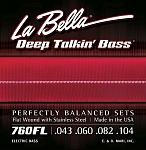 760FL Deep Talkin' Bass Комплект струн для бас-гитары, Light, 43-104, La Bella