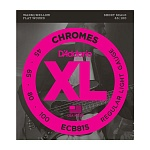 ECB81S Chromes Bass Комплект струн для бас-гитары, Light, 45-100, Short Scale, D'Addario