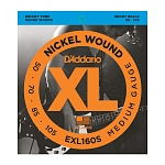 EXL160S Nickel Wound Комплект струн для бас-гитары, Medium, 50-105, Short Scale, D'Addario