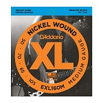 EXL160M Nickel Wound Комплект струн для бас-гитары, Medium, 50-105, Medium Scale, D'Addario