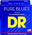 PB-45 Pure Blues Комплект струн для бас-гитары, никель, Medium, 45-105, DR