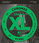 ECB80 Chromes Комплект струн для бас-гитары, Light, 40-95, Long Scale, D'Addario