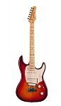 046980 Progression Plus Cherry Burst Flame MN Электрогитара, Godin